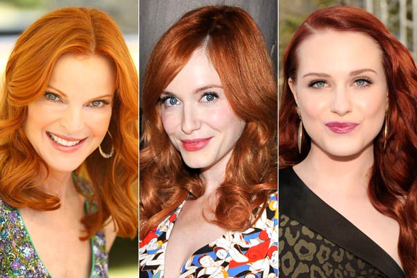 redheads makeup. Redhead beauties Marcia Cross,