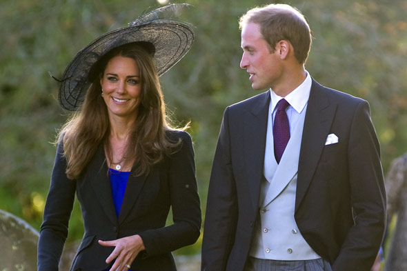 A stylish Kate Middleton and Prince William.