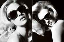 January Jones strips down for Versace