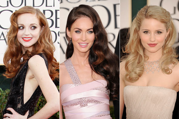 Megan Fox Golden Globes 2011 Makeup. Jayma Mays Megan Fox Dianna