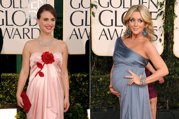 Moms-to-be ruled the Golden Globes red carpet as Natalie Portman and Jane