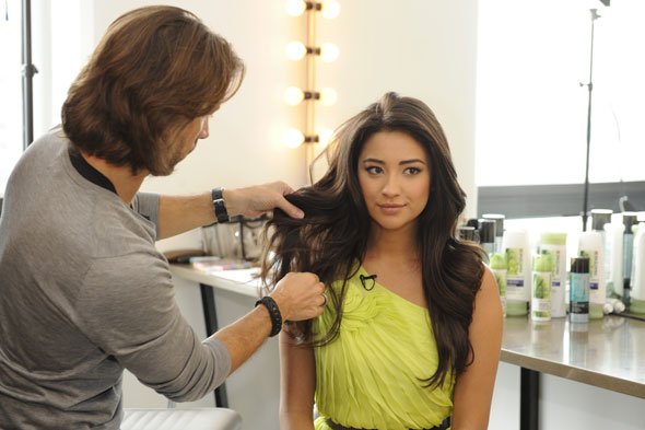 Shay Mitchell is the face of Pantene's Nature Fusion line.