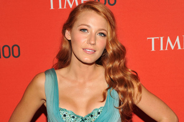 blake lively hair 2011. Blake Lively debuts red hair.