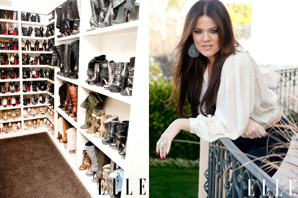 khloe kardashian shoe closet 590kk0415 Inside Khloe Kardashians Shoe Closet