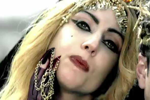 lady gaga judas video pics. Lady Gaga with chain nails.