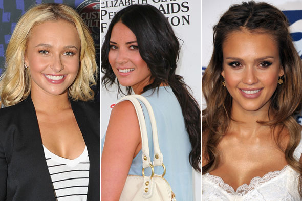 hayden panettiere olivia munn jessica alba clip-on locks weather hotter