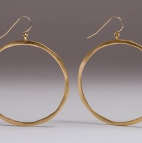 Allyson James Gold Matte Hoops