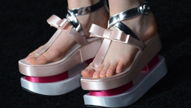 Elle Fanning Wore Those Crazy Prada Platform Geta Shoes