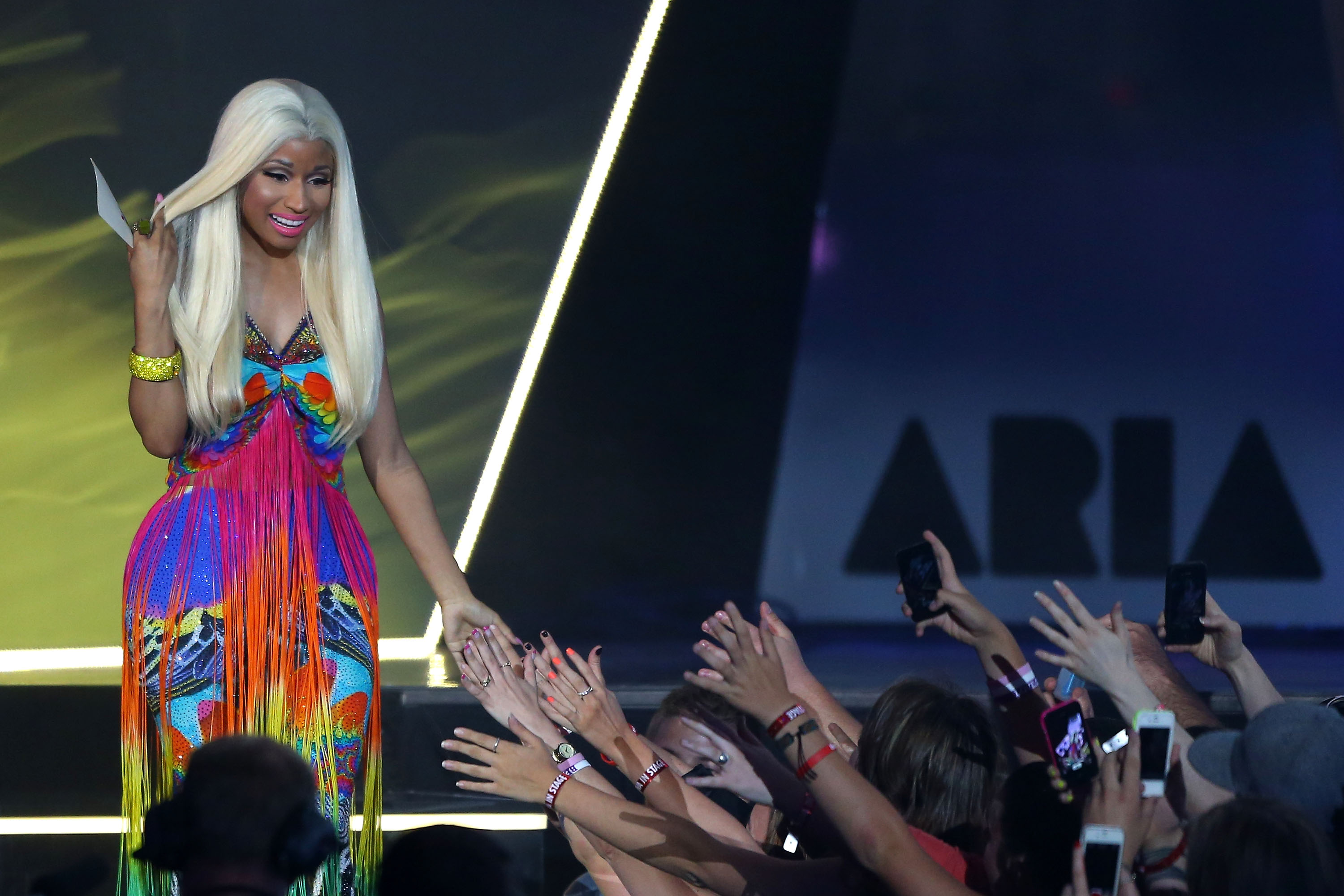 Nicki Minaj Channels ALL the Colors of the Rainbow