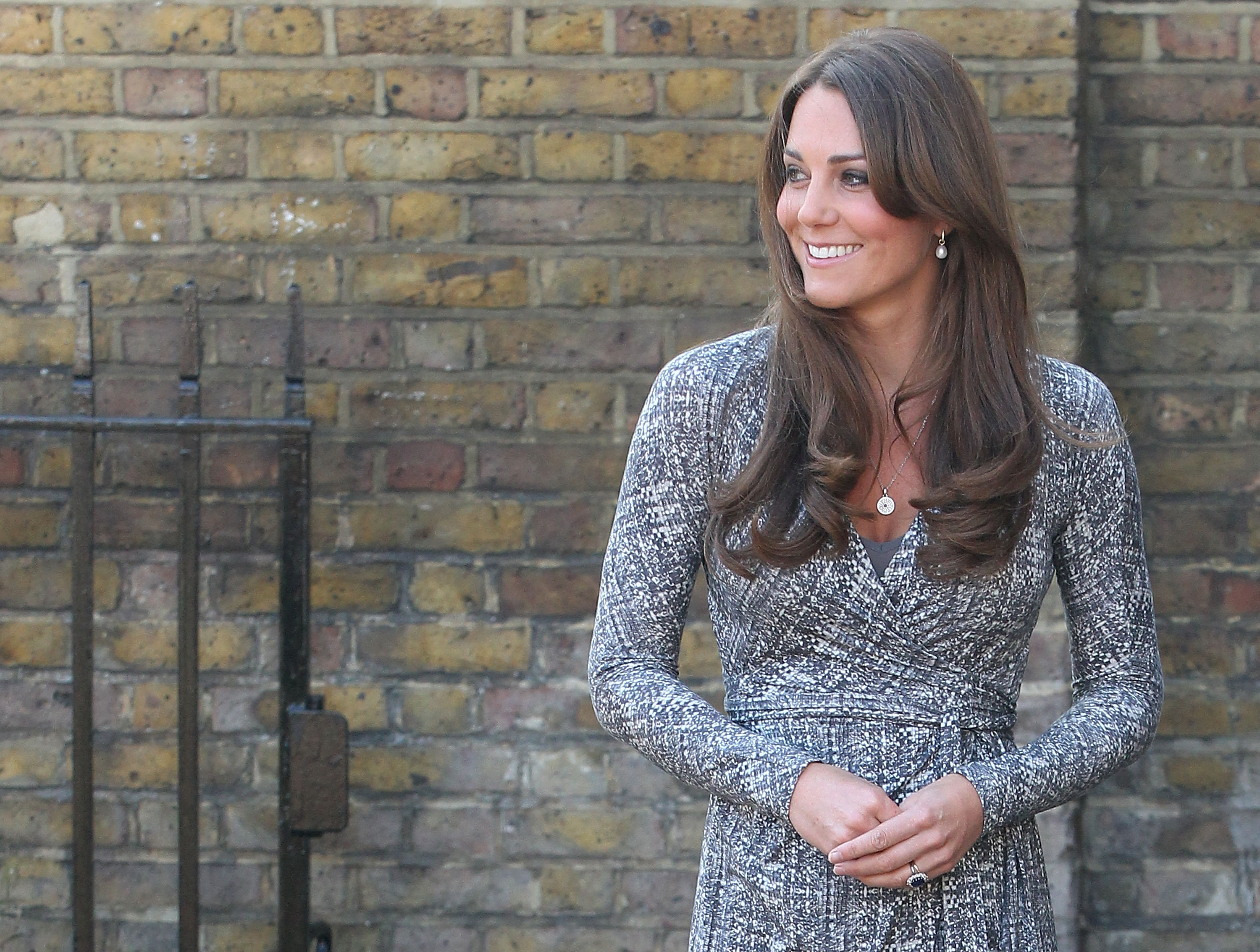 Kate Middleton Shows Off Baby Bump in London