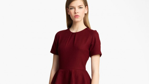 Dress with Peplum