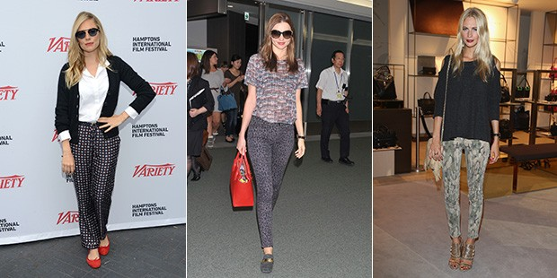 Prints Charming: See How Celebs Style Statement-Making Pants for Fall