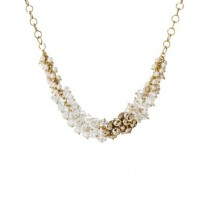 Gold Bead Round Short Necklace