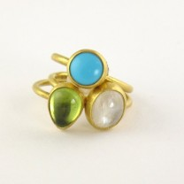 Stephanie Albertson Colored Stone Stack Rings