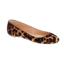 J.Crew COLLECTION NORA CALF HAIR BALLET FLATS