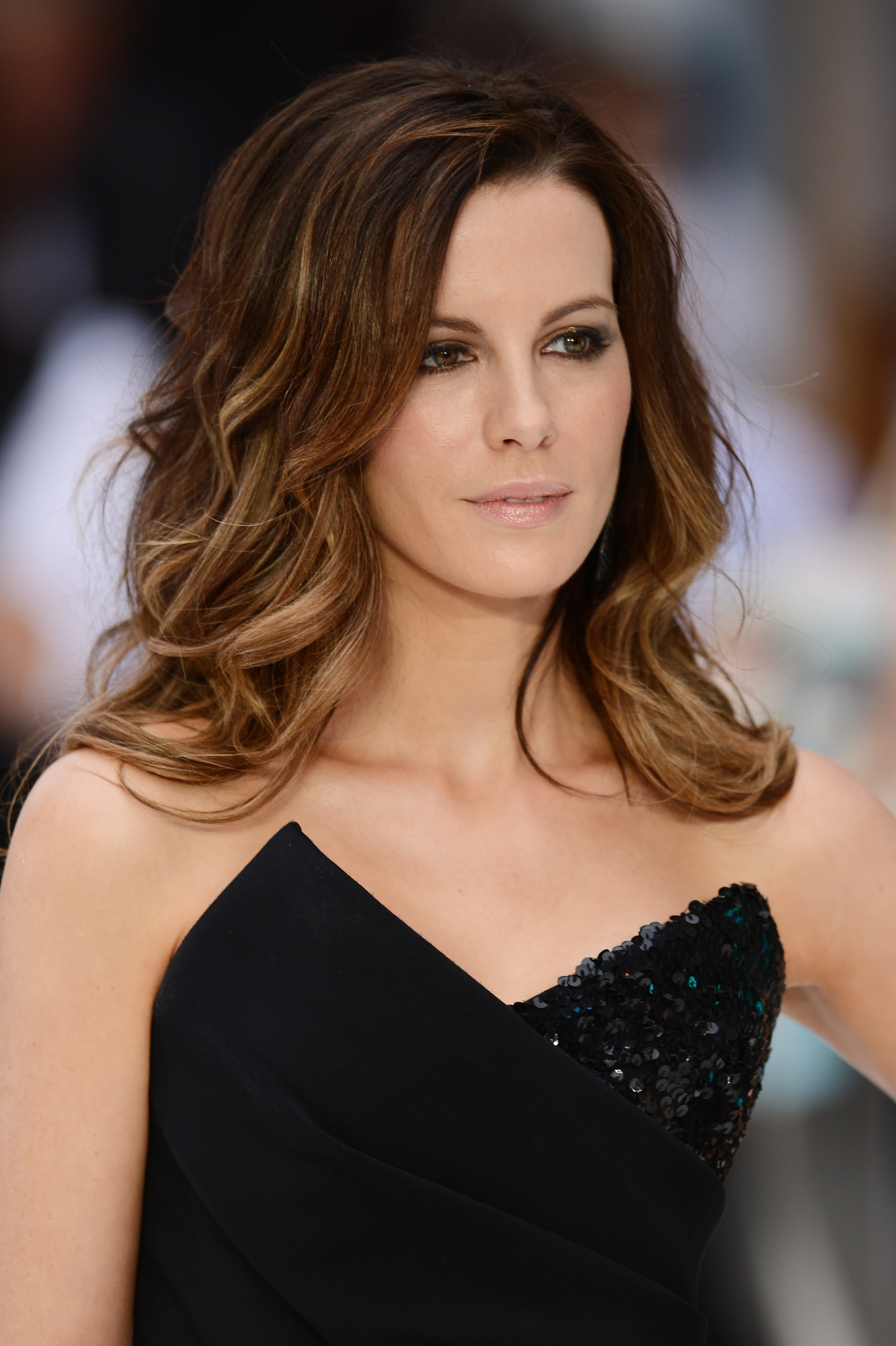 straight ombre hair kate beckinsale light brown balayage