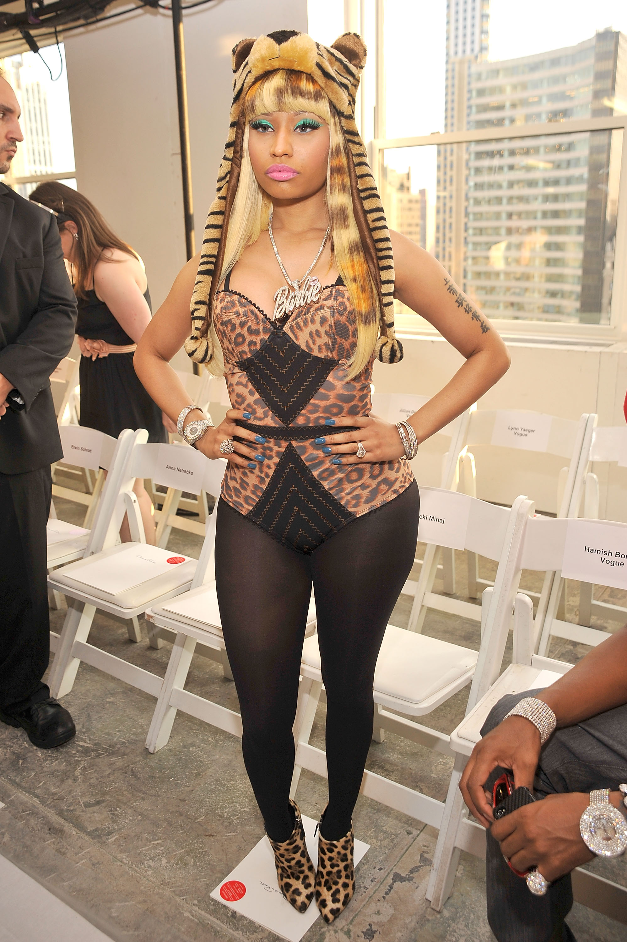 may be going on in this outfit but nicki s pretzel necklace is a ...