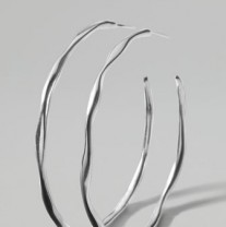 Ippolita Silver Squiggle Hoop Earrings