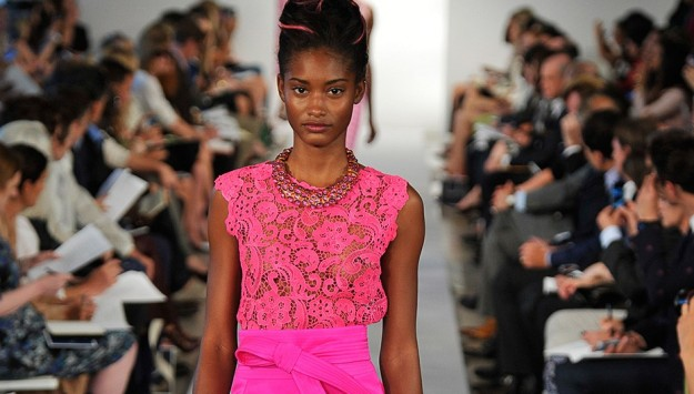 Get the Look for Less: Bright Lace at Oscar de la Renta