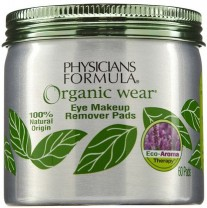 Physicians Formula Organic Wear Eye Makeup Remover Pads-60 ct