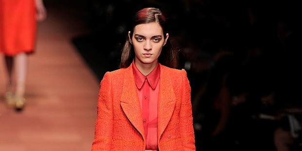 Red Leather Reigns Supreme on the NYFW Runways