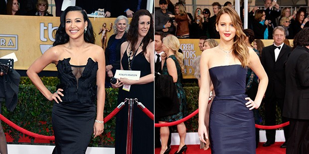 The trend report: black and navy at the SAG Awards