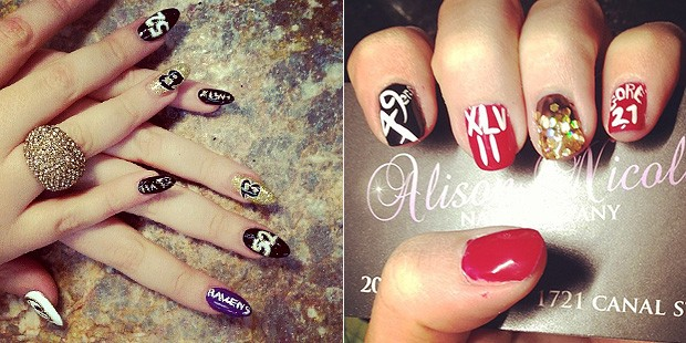 Nails In the Game: Super Bowl Inspired Designs