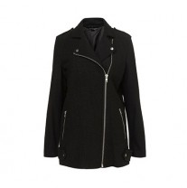 TOPSHOP BOILED WOOL BIKER COAT