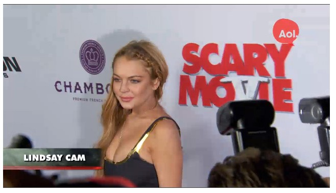 Lindsey Lohan's 'Scary Movie 5' Red Carpet Premiere Look