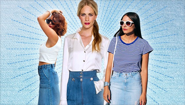 The trend report: denim skirts