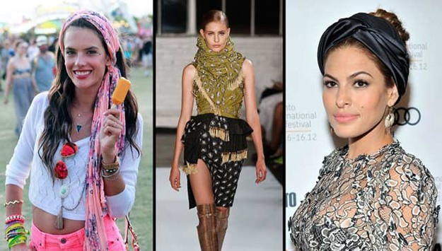 Celebrity style: new ways to wear scarves