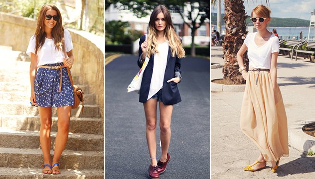 21 stylish ways to wear a plain white t-shirt this Summer