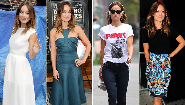 Olivia Wilde shows off 4 looks in 1 day promoting 'Drinking Buddies'