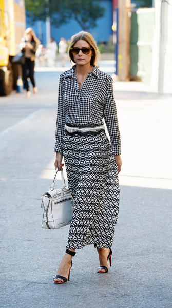 Get the look: Olivia Palermo's impeccable black and white separates