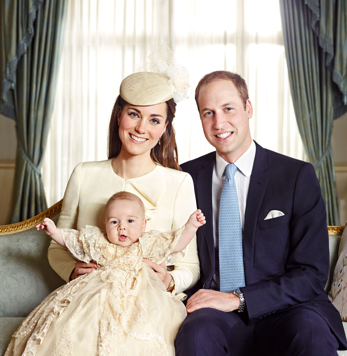 Prince George is such a ham! See the official royal christening photos