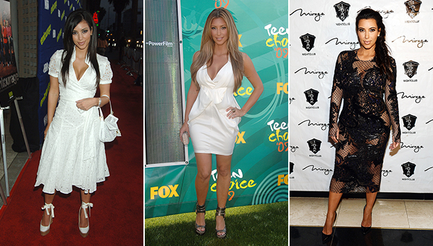 Check out Kardashian's style transformation before (and after) Kanye!