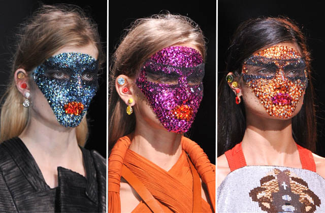 Did you see the crystal face masks at Givenchy spring 2014? They took 12 HOURS to apply.
