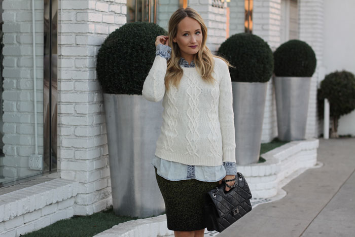How to make that curve-hugging skirt look ready for the office
