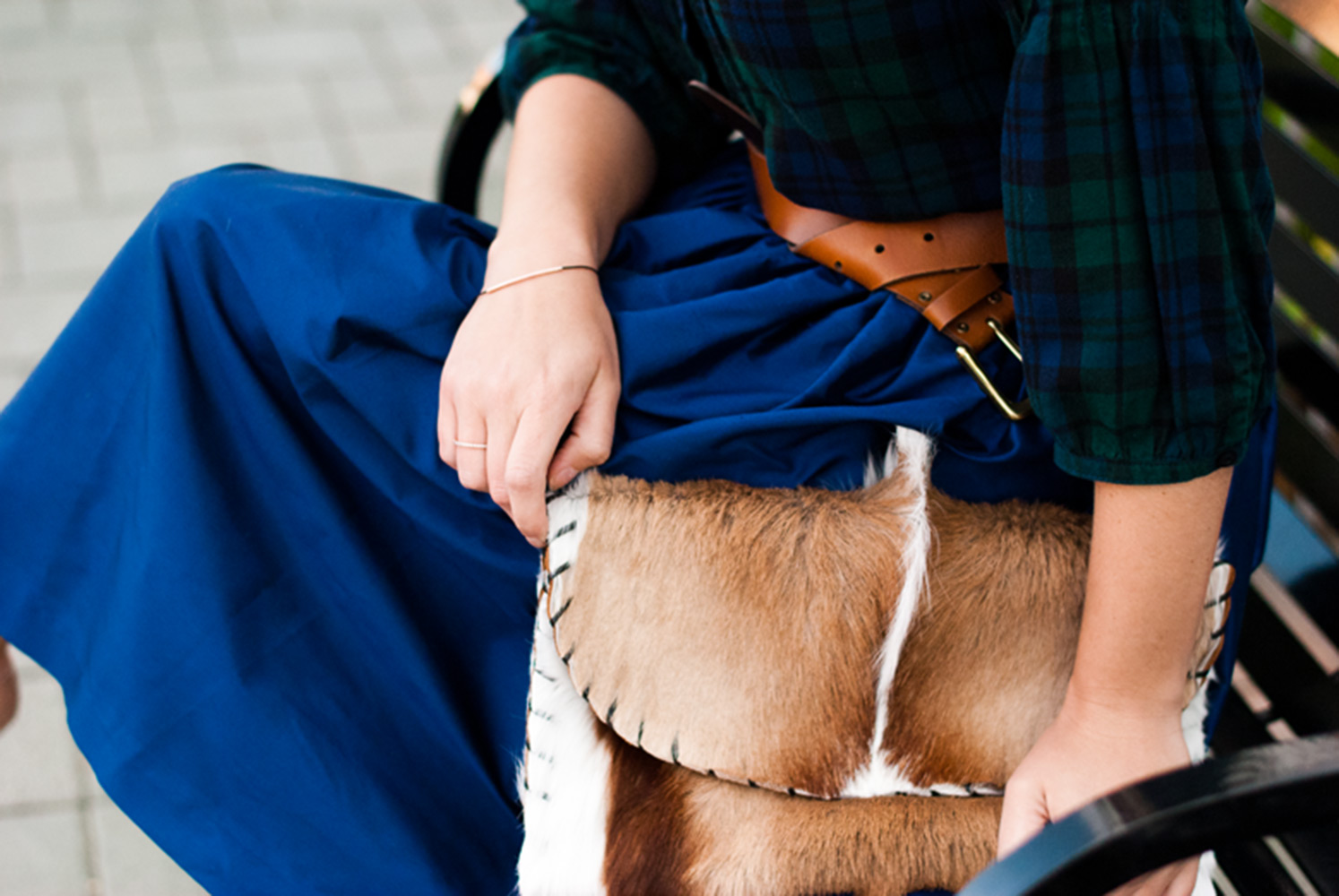 Wear it on Thanksgiving: flannel and a party skirt