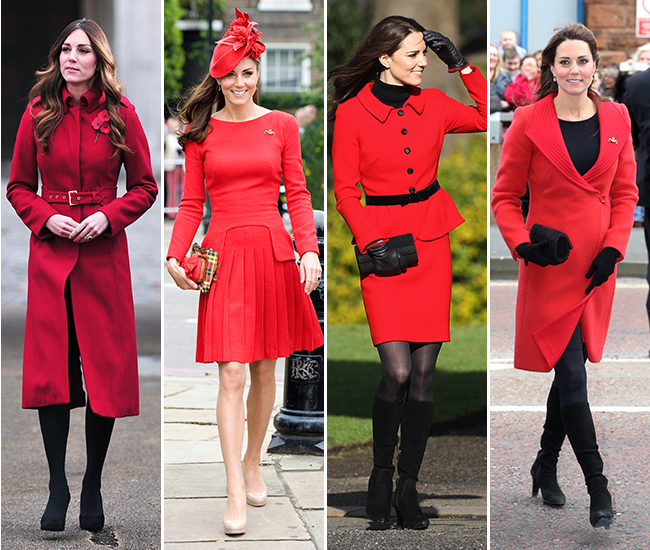 Kate Middleton red outfits