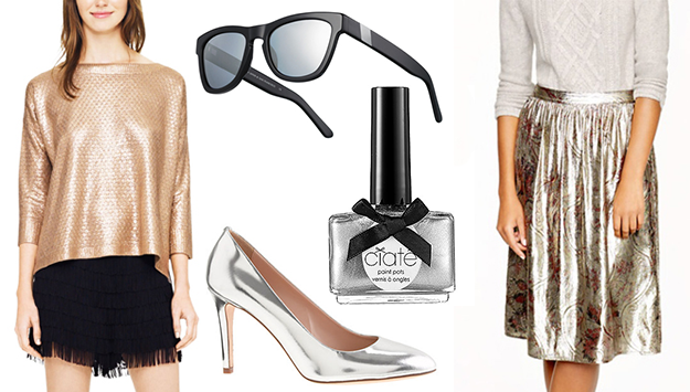 How to wear metallics this holiday season