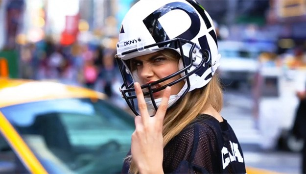 Fashion meets football in DKNY's latest video