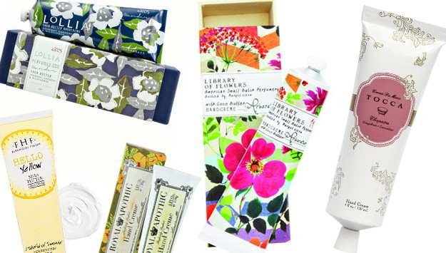 The hand creams so pretty you'll want to leave them out