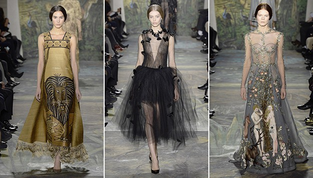 Welcome to the jungle: Lions, tigers, and butterflies at Valentino Spring 2014 Couture
