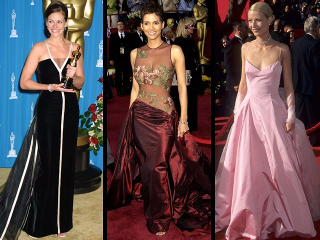 Celebrities at the Academy Awards: Then & now