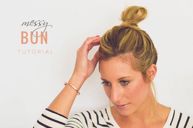 How to: The perfect messy bun in 5 easy steps