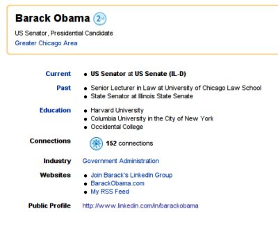 Obama Joins LinkedIn