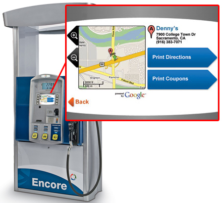 Google Maps on Gas Pumps
