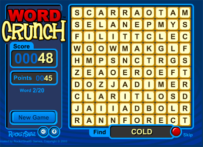 WordCrunch Brain Game