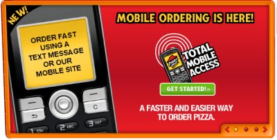 Pizza Hut Offers Text Message and Mobile Web Ordering